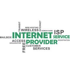 word cloud - internet service provider vector image