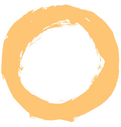 Yellow brushstroke circular shape vector
