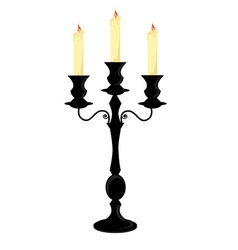 Candle holder vector image