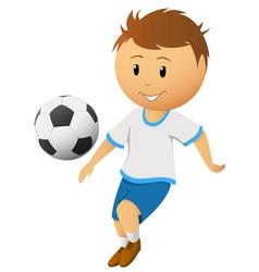 cartoon footballer vector image
