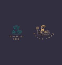 Creative logo for the historic retro store vector