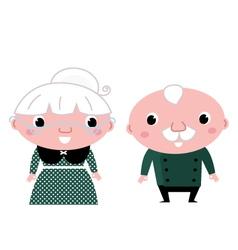 Cute elderly couple vector image vector image