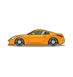japan sport car side view vector image vector image