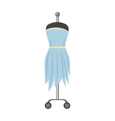 Light Blue Dress on Mannequin vector image