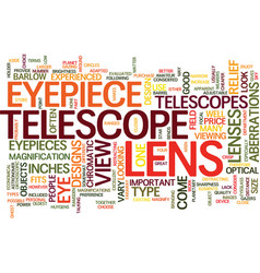 Telescope lens text background word cloud concept vector