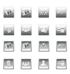 Web site buttons menu template vector image