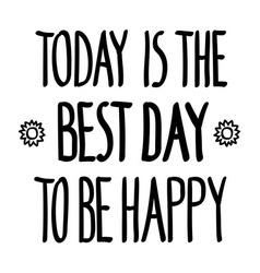 Best day happy flower vector