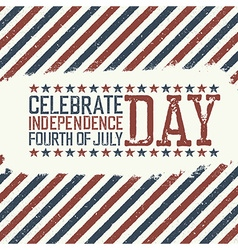 Greeting card for fourth of july holiday vector image vector image