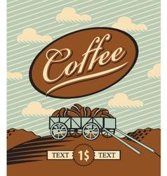 retro coffee vector image vector image