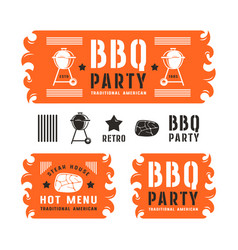 set of barbecue labels and banners vector image vector image