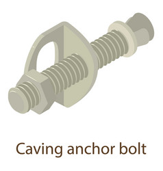 caving bolt icon isometric style vector image