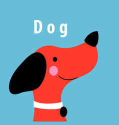 Graphics portrait of a red dog vector