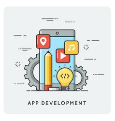 mobile application development flat vector image vector image
