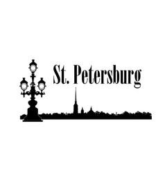 saint-petersburg city russia st peter paul vector image vector image