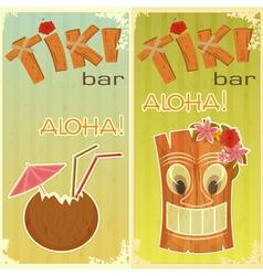 Tiki bars Hawaiian vector image vector image