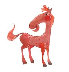 funny cartoon horse vector image vector image
