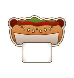 hot dog fast food icoon vector image