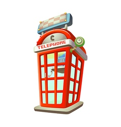 icon phone booth vector image