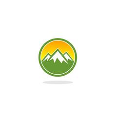 mountain circle logo vector image
