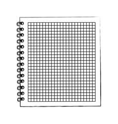sketch draw notebook cartoon vector image vector image