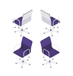 3d armchair front view and rear view vector image