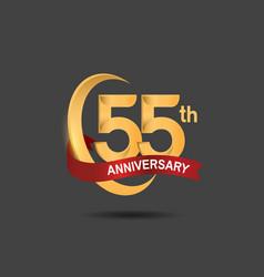 55 anniversary design logotype golden color vector