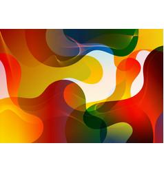 abstract vibrant color gradient liquid shapes vector image