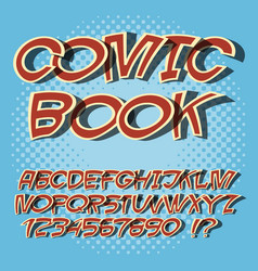 alphabet comics style and pop art comic book font vector image