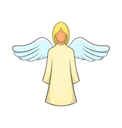 Angel icon in cartoon style vector