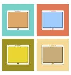 Assembly flat icon tablet gadget vector