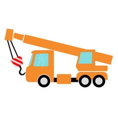 Auto crane vector