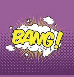 Bang wording sound effect vector