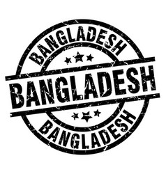 bangladesh black round grunge stamp vector image