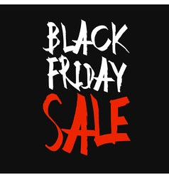 Black Friday Sale Typography Black Background vector image