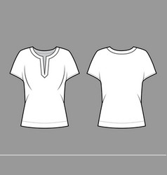 blouse technical fashion with split vector image
