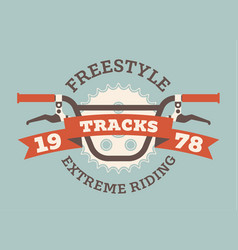 Bmx handlebars sticker vector