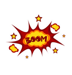 Boom sticker chat message label icon colorful vector