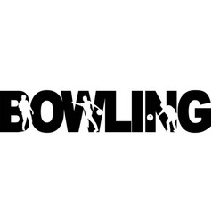 Bowling on white background vector