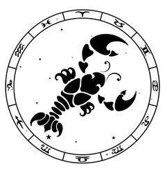 Cancer zodiac sign vector image