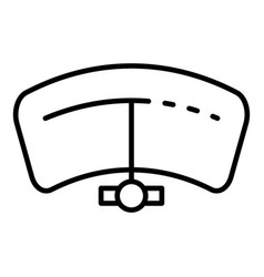 Car tachometer icon outline style vector
