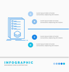 Categories check list listing mark infographics vector