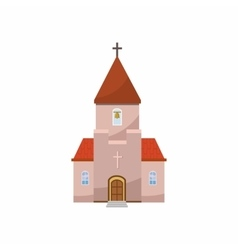 Church icon in cartoon style vector