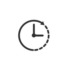 clock icon time this on a white background vector image