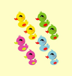 Colorful little duck vector image
