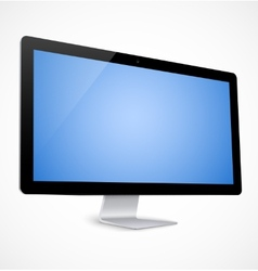 Computer display with blue screen vector image