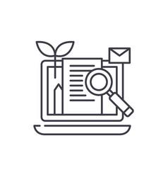 content marketing line icon concept content vector image