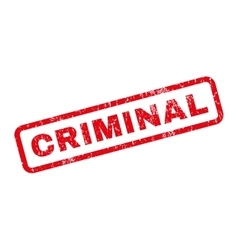 Criminal Rubber Stamp vector image