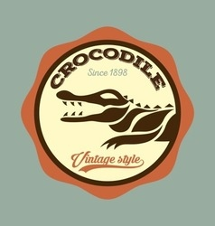 crocodile logo vector image