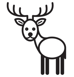 Cute animal deer vector