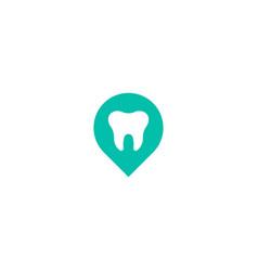 Dental point logo icon design vector